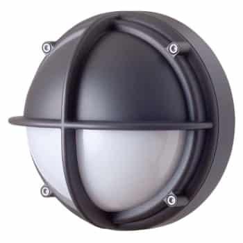 LK skotlampe LED halvafskærmet opal grafitgrå Elministeren