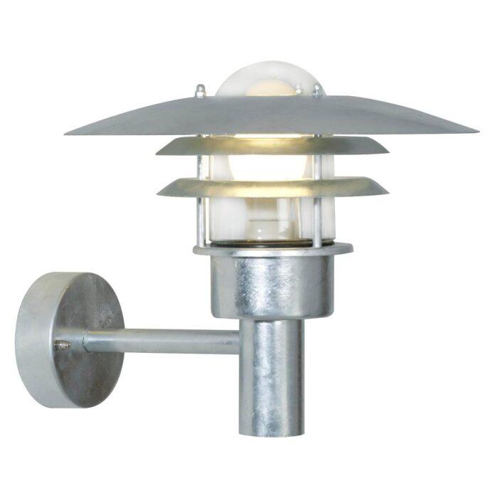 Nordlux Lønstrup 32 væglampe galvaniseret Elministeren