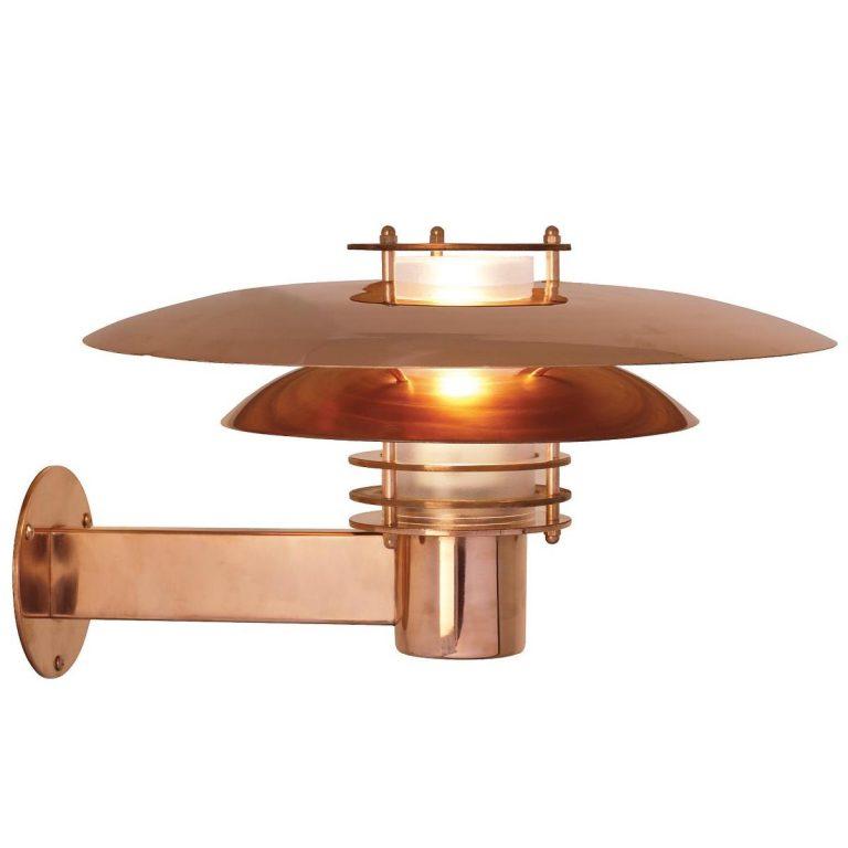 Nordlux Phoenix væglampe kobber Elministeren