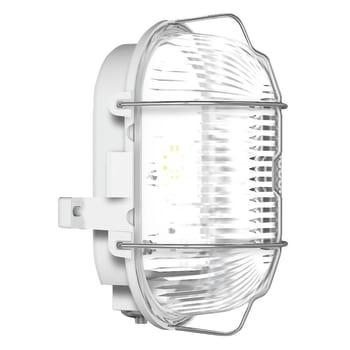 Skotlampe LED med gitter grå Elministeren