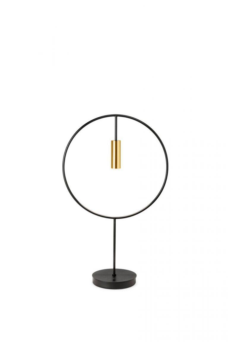 Estiluz Revolta M-3637 sort guld bordlampe Elministeren