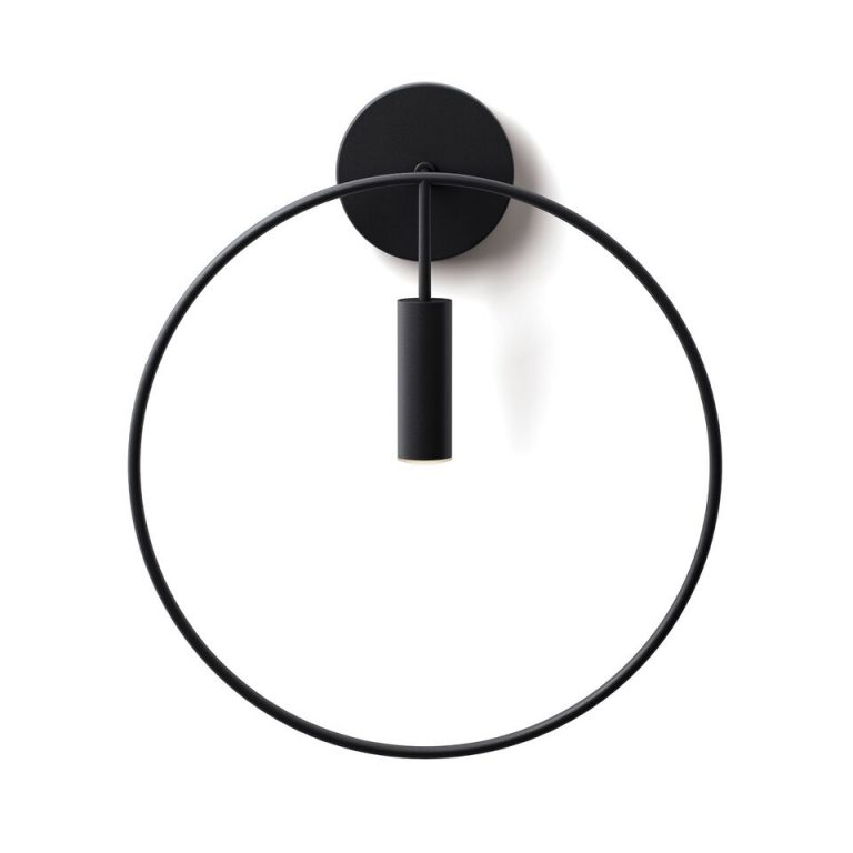 Estiluz Revolta a-3630 væglampe sort sort Elministeren